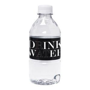 12 Oz. Custom Labeled Bottled Water w/Flat Cap